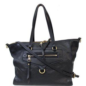 Louis Vuitton Lumineuse Pm Leather Black Handbag